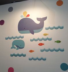 Adorable fabric wall decals! #nyigf