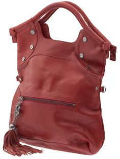 Foley + Corinna FC Lady City Tote in Red leather.  LOVE the hardware that resembles the tops of flat screws!