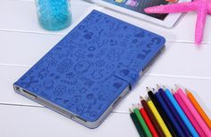 Sweet Magic Girl Leather Stand Cover Case Handbag for iPad Mini Blue / Porfa llega pronto