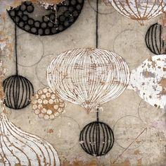 Pendant – Mixed Media on Canvas on Wood Panel 60 x 60 ~ Erik Gonzale