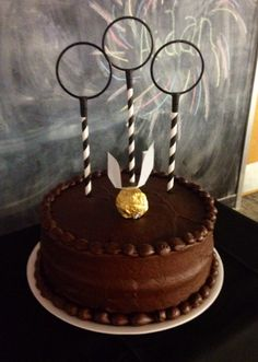 Quidditch cake inspired from Pinterest