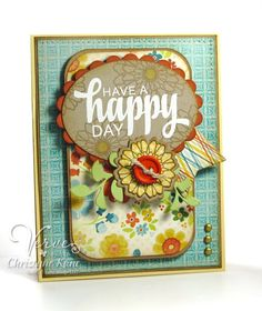 Card by Christyne Kane using Be Blessed and Button Best from Verve.  #vervestamps