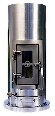 Kimberly Wood Stove from Unforgettable Fire. Perfect for a tiny house! Tiny House Blog, Tiny House Nation, Tiny House Wood Stove, Wood Burner, Outdoor Kitchen Design, Home Appliances, Wood Stoves, Tiny Homes, Counter Tops