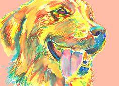 Golden Retriever Print, downloadable dog gift, golden retriever art, golden retriever,Retriever gift,Golden retriever… #dogs #pets #puppy