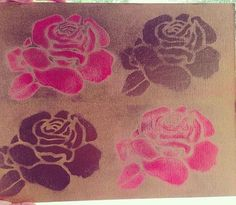 Shabby Chic Flower Painting от JPerezDesigns на Etsy