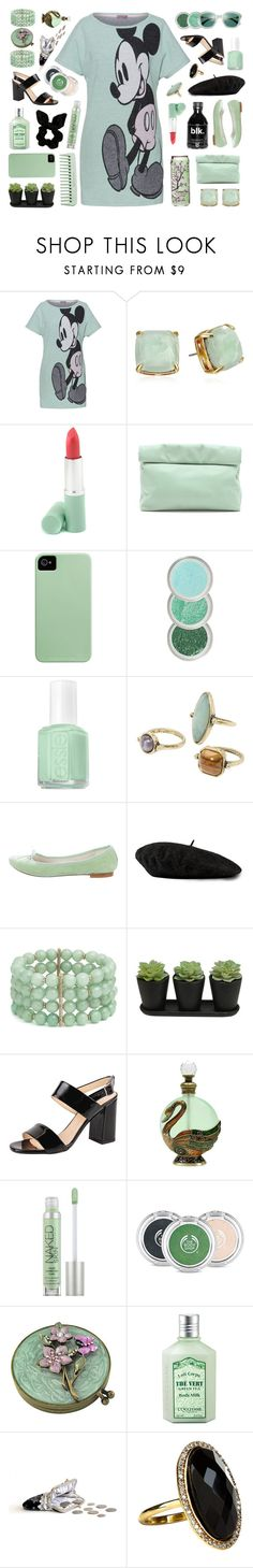 """""""Untitled #2004"""" by tinkertot ❤ liked on Polyvore featuring Lena Hoschek, Kate Spade, Clinique, Marie Turnor, Essie, MANGO, Repetto, Gucci, Lonna & Lilly and Summit by White Mountain"""