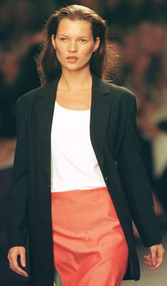 Kate Moss, Calvin Klein 18th Feb 1998 - Kate Moss (Runway/Catwalk & Backstage)