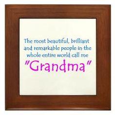 Grandma Framed Tile  Gran-Gz  Grandparent Gift Shop