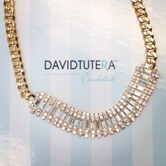 The Mila Necklace makes a statement in gold! #embellish #davidtutera