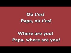 Papaoutai - Stromae - English and French Lyrics