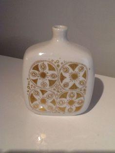Vintage Mid Century Porsgrund Scandinavian Art Pottery Norwegian Vase