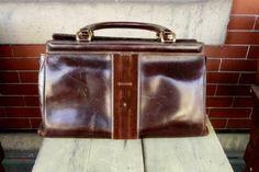 Take 20 off RARE Vintage dark brown leather speedy by Lagelle