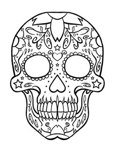 sugar skull coloring pages printable - Skull Coloring Pages for Developing Knowledge in Human Physiology – IsacCorp.Com