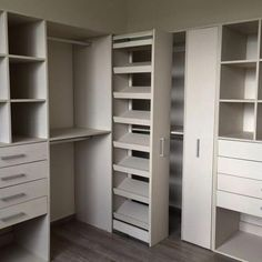 Maximize your closet room with these functional storage room organization ideas! We've collected lots of inspiration and also methods for optimizing storage room space with various designs and contemporary styles. Walk In Closet Design, Bedroom Closet Design, Master Bedroom Closet, Bathroom Closet, Wardrobe Design, Closet Designs, Storage Room Organization, Closet Storage, Organization Ideas