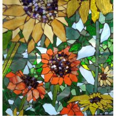 Shop Mosaic Sunflower Cutout created by Willowcatdesigns. Mosaic Garden Art, Mosaic Flower Pots, Mosaic Pots, Mosaic Diy, Mosaic Crafts, Mosaic Glass, Mosaic Ideas, Mosaic Tables, Stone Mosaic