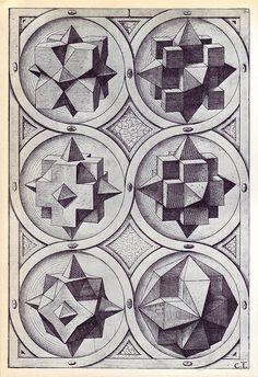 Terra (a) - Perspectiva Corporum Regularium - Wenzel Jamnitzer 1568, via Flickr.
