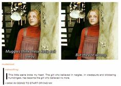 :(( Luna so sad.   she still believed, but not about symbols or talismans to keep evil at bay.