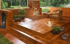 Aquarius - Balkon i taras Aquarius, Outdoor Seating, Outdoor Decor, Outdoor Furniture, Cozy Patio, Luxury Store, Outdoor Tiles, Modern Patio, Interior Stairs