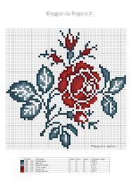 point de croix grille coeur rose -many patterns