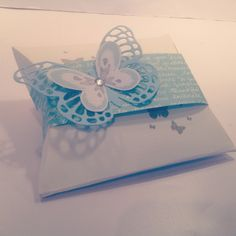 Stampin up square pillow box