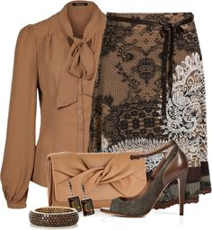 """Dressed in Chocolate"" by stylesbyjoey on Polyvore"