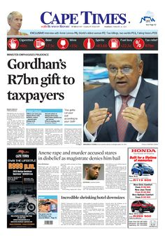 News making headlines:  Gordhan's R7bn gift to taxpayers