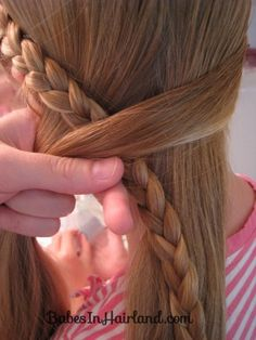 Half French Braid into a Fishbone Braid (5)