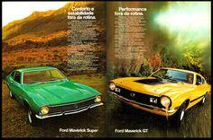 Anúncio Ford Maverick Super e Maverick GT - 1973