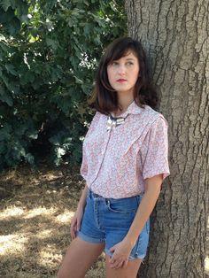 Shirt.Vintage shirt .70's shirt.Vintage shirt.Women by shpirulina