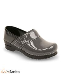 LOVE this color, it's like a gun metal color and so shiny. Would be so cute with black or red scrubs, maybe pink or burgundy. Koi Lindsey Nursing Clog | Nursing Shoes