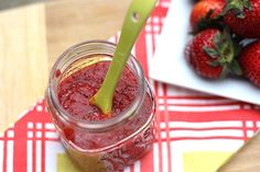 chai seed strawberry jam.  only three ingredients! much better than the super processed jam you buy at the store.
