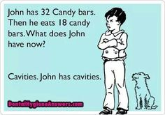 Cavities and math. RDH. Dental hygiene humor