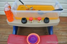 Frogs and Snails and Puppy Dog Tail (FSPDT): Pumpkin Soup: A Book Inspired Fall Sensory Table