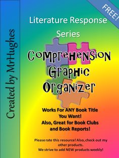Comprehension Graphic Organizer- Fits ANY Fiction Book. Over 100,000 downloads and counting! A great way to ditch the post-its and have each student's thinking in one easy-to-use place. Enjoy!