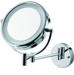 8.5' Wall Mounted Adjustable Battery-Powered Lighted Vanity Mirror with 5X Magnification -- Visit the image link more details. (This is an affiliate link and I receive a commission for the sales)