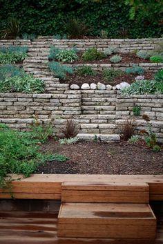 Broken Concrete Terraces & Bamboo Deck, Fall 2010
