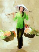Nữ họa sĩ người Pháp Hélène Kling vừa có cuộc triển lãm chung với ba họa sĩ VN là Phan Mai Trực, Hà Huỳnh Mỹ và Phạm Hoàng Anh tại tiền sảnh khách sạn Equatorial (242 Trần Bình Trọng, Q.5, TP.HCM - kéo dài đến 26-11).