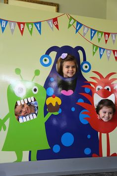 Monster birthday cutout poster / photoshoot backdrop with stand. Message me if you want to purchase the stand! Little Monster Birthday, Monster 1st Birthdays, Monster Birthday Parties, First Birthdays, Birthday Themes For Boys, Birthday Decorations, Boy Birthday, Monster Inc Party, Backdrops For Parties