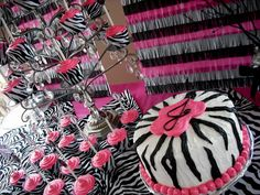 zebra print cake decorations - Google Search