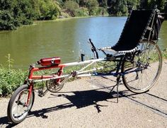 Recumbent Bicycle, Recumbent Bike Workout, Outdoor Chairs, Outdoor Furniture, Outdoor Decor, Cool Toys, Exercise, Bicycles, Fun