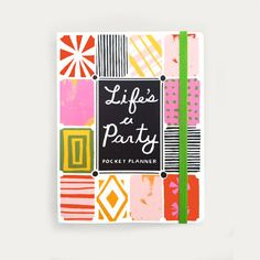 """Life's AParty, aproject by Danielle Krollin which she designed and illustratedapocket plannerand book of labels """"inspired by fashio..."""
