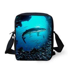 2015 Casual ocean animal crossbody bag for girls small sea fish messenger bags for women single shoulder bags bolsas feminina