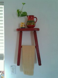 An old stool and a can of paint.  So Cute!!!
