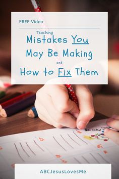 What mistakes are you making in teaching your preschool child or students?   This video shares the most common mistakes that I see and how to fix them.    #teachinghandwriting #teachingscissorsuse #teachingpreschoolers #ABCJesusLovesMe