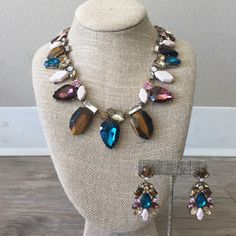 Colorful Statement Necklace Just in time for the seasons to change and to bring a pop of color into your world. *Matching earrings available upon request and are priced seperately Ocean Jewelers Jewelry Necklaces