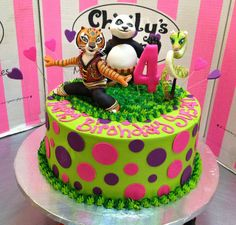 Kung-Fu Panda themed cake with 3D figurines by Charly's Bakery, via Flickr