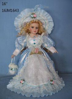 """Jmisa 16"""" Porcelain Victoria Doll jmisa http://www.amazon.com/dp/B00FW1U9N0/ref=cm_sw_r_pi_dp_doA6tb0GK3E8H"""