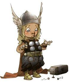 LITTLE HEROES – LES BÉBÉS SUPER-HÉROS D'ALBERTO VARANDA - Baby-Thor #Thor