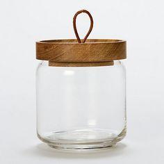 Teak Jar in glass