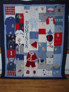 Full size quilt made from your baby clothes by BarbMalmTshirtQuilts on Etsy
